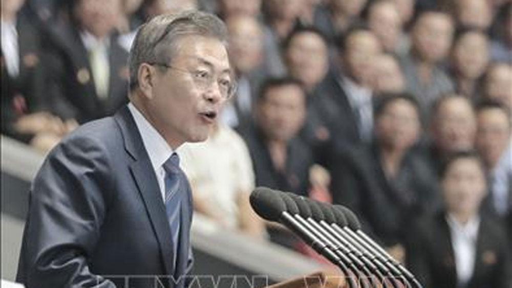 Tổng thống Hàn Quốc kêu gọi chấm dứt 70 năm thù địch giữa hai miền Triều Tiên